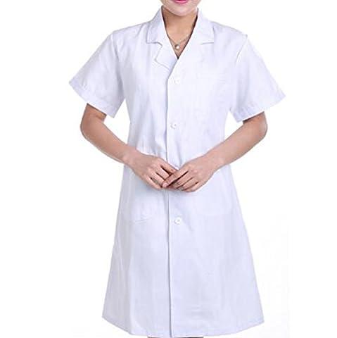 Nanxson(TM) Men/Women Short Sleeve Doctor Nurse Uniform Lab Coat with