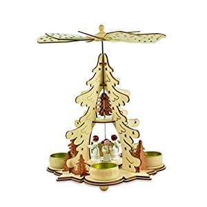 riffelmacher weinberger engelspyramide mit 2 ebenen f r teelichte holz 1. Black Bedroom Furniture Sets. Home Design Ideas