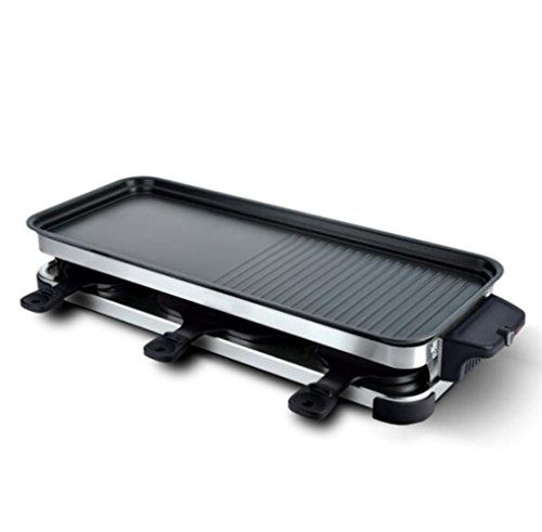 MJY Electric oven household electric grill smokeless barbecue machine Korean electric baking pan barbecue pot,Black,A