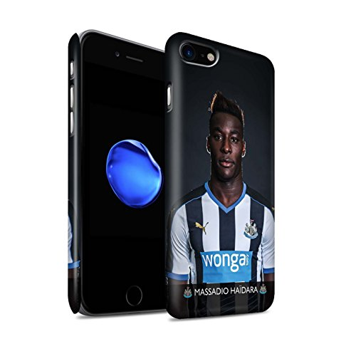 Offiziell Newcastle United FC Hülle / Matte Snap-On Case für Apple iPhone 7 / Mbemba Muster / NUFC Fussballspieler 15/16 Kollektion Haïdara