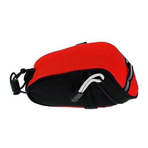 FakeFace Neu Satteltasche Fahrradtasche Rahmentasche Multifunktions Oberrohrtasche Wetterfeste Tasche für Fahrrad Bike Rot