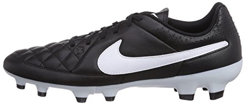 Nike Tiempo Genio Leather Firm Ground  Men s Football Boots  Black White  12 UK