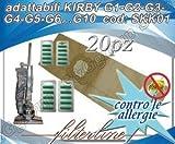 20 SACCHETTI + 20 PROFUMATORI CARTA ADATTABILI KIRBY G1-G2-G3-G4-G5-G6...G10