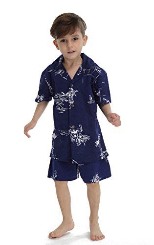 Hawaii-Hangover-Chico-Joven-adulto-Camisa-de-Aloha-Luau-Camisa-de-Navidad-en-el-mapa-de-la-Marina-clsica-12-aos