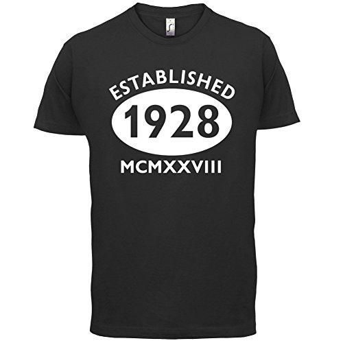 Gegründet 1928 Römische Ziffern - 89 Geburtstag - Herren T-Shirt - 13 Farben Schwarz
