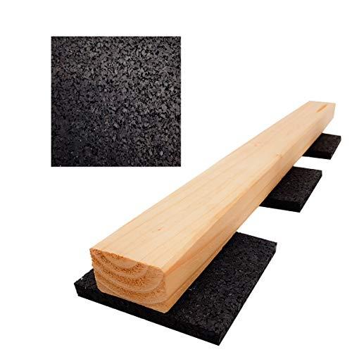 100 Stück 10mm Terrassenpad, Terrassenpads, Gummigranulat, Terrassenbau