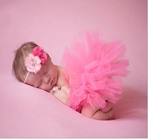 Musuntas Bébé Prop Photographie, costume de bébé, photo Photographie vêtements costume bébé jupe tutu Pettiskirt Filles Fleur Bandeau ( Se leva)