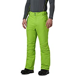 Columbia Ride On Pantalones, Hombre, Verde (Nuclear), Talla: L/R