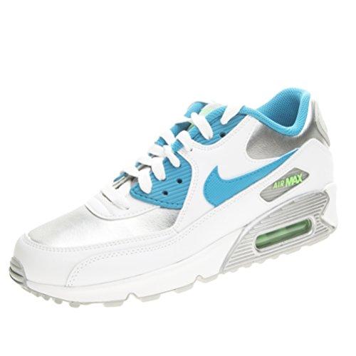 Nike AIR MAX 90 LTR (GS) White/Brght Crmsn-BL CHLL-DYNM - 38