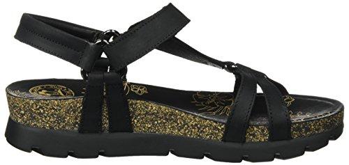 PANAMA JACK Damen Sally Basics Offene Sandalen mit Keilabsatz Schwarz (Black)