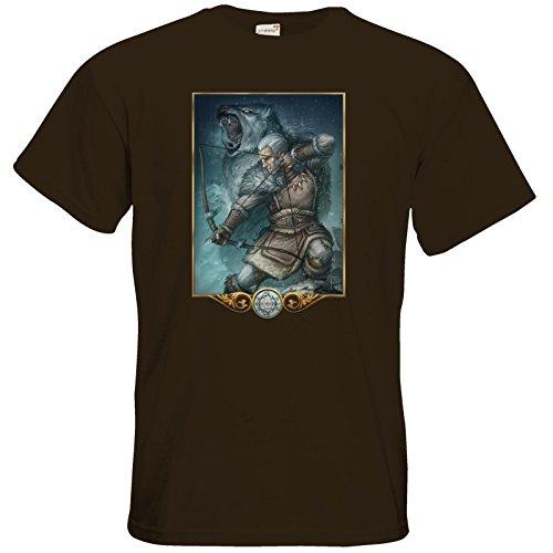 getshirts - Das Schwarze Auge - T-Shirt - Götter - Firun Chocolate