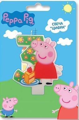 Peppa Pig Kuchendekoration für 3 Jahre Backen Dessert Dekorationen Happy Birthday Urlaub Jahrestag Jubilee Party Zubehör für Kinder Babyparty Feier