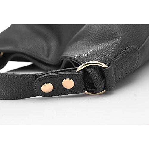 Il nuovo disegno delle donne Tote borsa di cuoio a tracolla Grigio