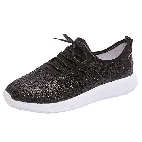 Lilicat_Damen Side Street-Awesome Sauce Sneaker Gym Turnschuhe Freizeit Schnürer Sportschuhe Pailletten Glänzende Outface Schuhe Laufschuhe Sneaker -