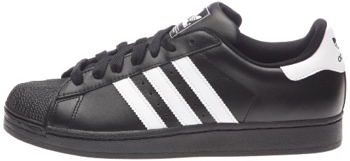 adidas Superstar II, Unisex-Erwachsene Laufschuhe, Schwarz (Black/White/Black), 43 1/3 EU (9 Erwachsene UK) -