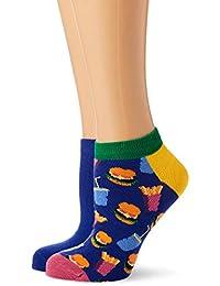 Bunt gemusterte Casual Low Socken f/ür Damen und Herren Happy Socks