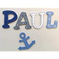 Tolle Holzbuchstaben für Kinderzimmer-Tür, Anker