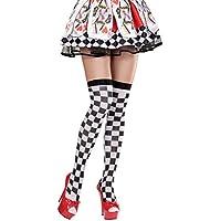 Calze al ginocchio donne calzini gambalettii calzettoni con motivo a scacchi