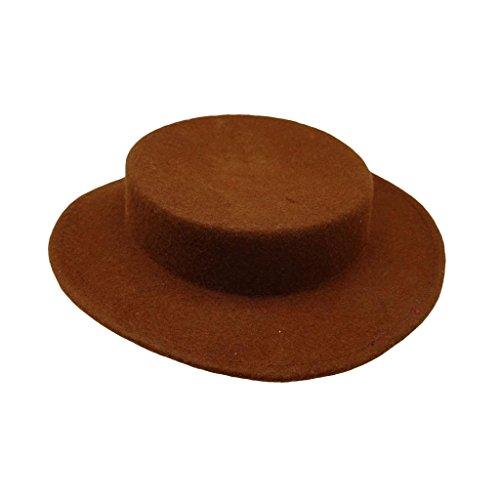 HATsanity Femmes Trendy La laine Se sentait Mini Canotier Chapeau Style Fascinator Marron
