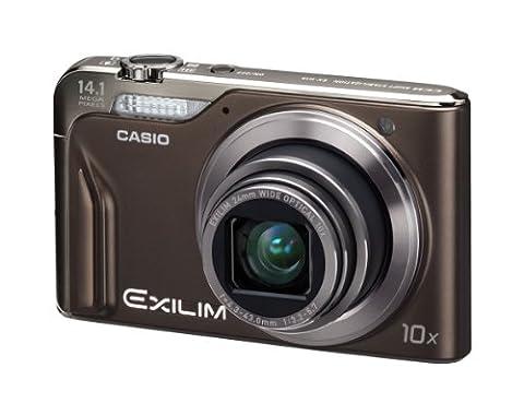 Casio Exilim EX-H15 Digitalkamera (14 Megapixel, 10-fach opt. Zoom, 7,6 cm (3 Zoll) Display, Akku für bis zu 1.000 Fotos, bildstabilisiert) braun