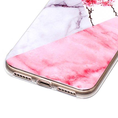 Handyhülle iPhone X Marmor, Asnlove TPU Silikon Hülle Case Cover Schale Backcover Handytasche Marble für Apple iPhone X / iPhone 10 5.8 Zoll 2017, Grau/Mandala Style-7