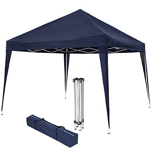 TecTake Gazebo plegable jardín fiesta tienda de campaña carpa pabellón 3x3 m con funda de transporte - disponible en diferentes colores - (Azul | No. 401621)