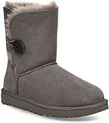 UGG Bailey Button Ii Grey Damen Schlupfstiefel, Grau (Gray), 39 EU (6.5 UK)