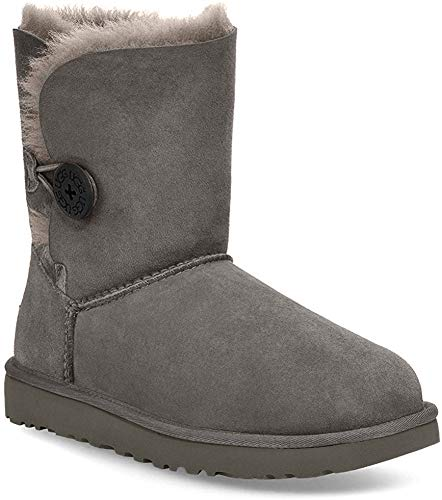 UGG Bailey Button II Grey, Zapatillas Altas para Mujer, Gris Gray, 39 EU