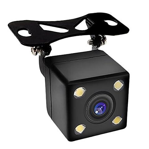 Pathson Caméra de recul de trajectoire intelligente de la voiture la caméra de la vue arrière avec une ligne modifiable automatiquement et un module de capteur image CCD,4 lumières LEDs Vision nocturne