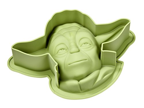 STAR WARS 20564 Yoda Silikon Backform, grün, 27,5  x  18,5  x  7 cm