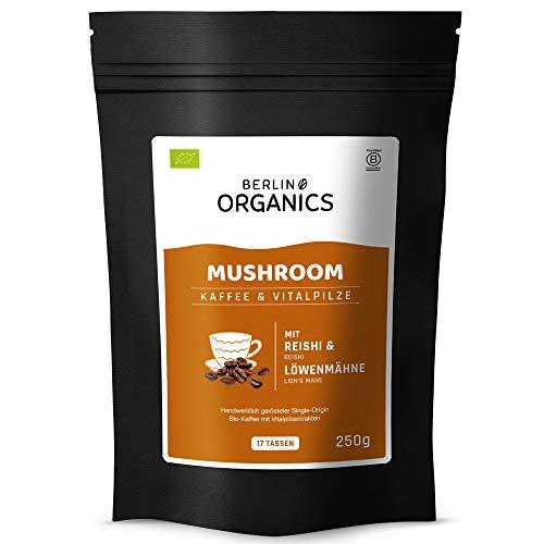 Mushroom Coffee - Berlin Organics Bio Vitalpilz Kaffee - Shroom Coffee - mit Reishi und Löwenmähne Extrakt