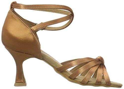 Diamant Damen Latein Tanzschuhe 109-087-379, Chaussures de Danse de Salon Femme Marron - Braun (Dark Tan)