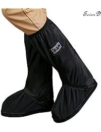 Cubierta impermeable del zapato, alto tubo los hombres reutilizables que espesan la cubierta inferior del zapato, senderismo ciclismo cubre los sobrecalzados antirresbaladizo