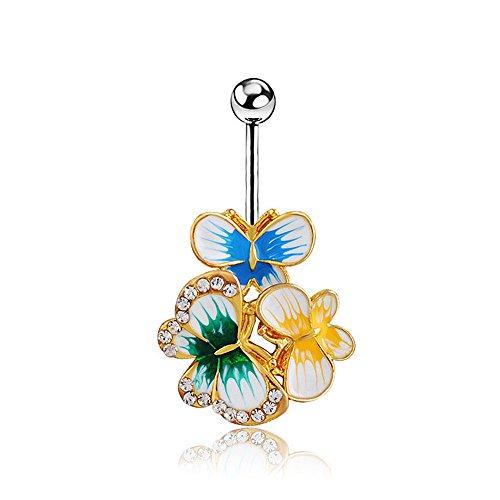 bodya-epoxy-email-esmalte-colares-papillon-nombril-anneaux-sexy-body-piercing-bijoux-nombril-barres-