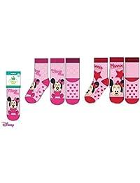 Pack 2 pares de calcetines bebe antideslizantes diseño Minnie Mouse (Disney) 2 modelos diferentes