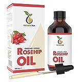 NATURA PUR Aceite de Rosa Mosqueta Puro 120 ml, Bio y Vegetal - Rosehip Oil 100%...