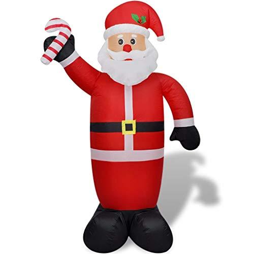 vidaXL Papa Noel Inflable 240 cm Luces LED Tela Plastico Santa Claus...