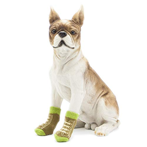 Jnday SüßBreathableRutschfeste Socken SicherPfotenschutzHund SockenWelpenBaumwolle HundesockenHundeschuheHaustierKnöchelsockenWeicherBaumwollsocken