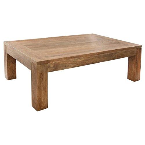 PEGANE Table Basse en Bois Coloris Marron - 130 x 80 cm