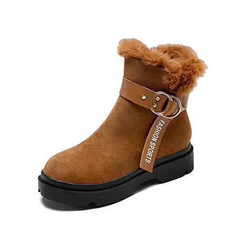 MYMYG Schneeschuhe Flache Schuhe mit Runden Zehen für -