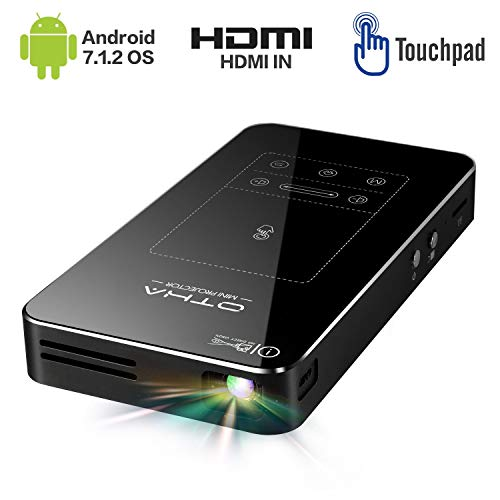 Portatile Proiettore Android 7.1 OS ,HDMI Keystone Correction ± 45° Mini Proiettori ,Supporto Full...