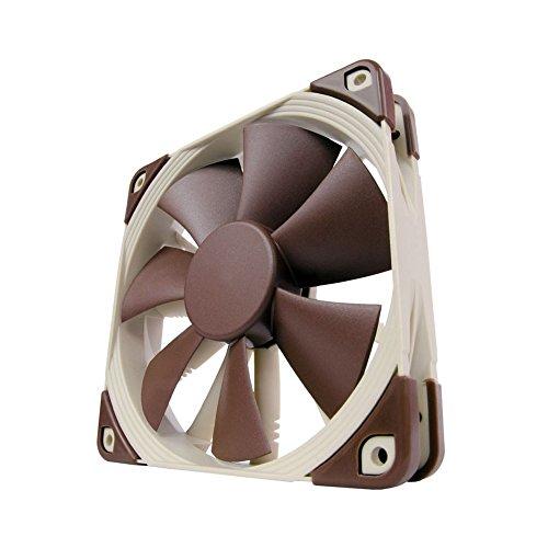 Noctua NF-F12 PWM - Ventilador para ordenador (1500 rpm, 12 V), marrón