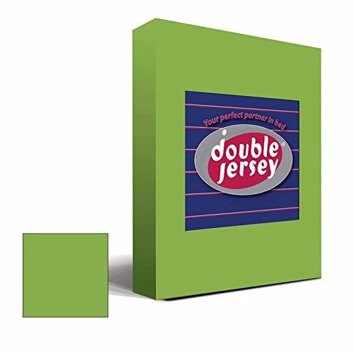 Double Jersey - Spannbettlaken 100% Baumwolle Jersey-Stretch bettlaken, Ultra Weich und Bügelfrei mit bis zu 30cm Stehghöhe, 160x200x30 Grün - 2