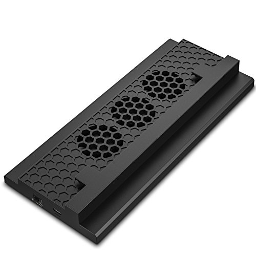MoKo Xbox One S Ventilador - Incorporado 3 Speed Cooling Fans con...