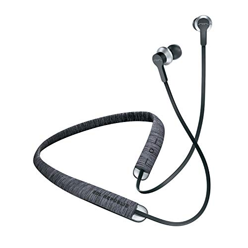SOL REPUBLIC Shadow Fusion Bluetooth In-Ears Schwarz | 10 Stunden Spielzeit | Komfortables Stricktech-Fasernackenband | Magnetische Ohrhörer | Flexible Lagerung | Mikrofon I Praktische Tasche