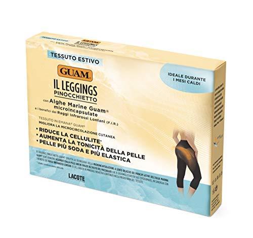 GUAM - die leggings Capri schwarz Farbe Größe XS/s mit Algen Marine Farbe Leggings