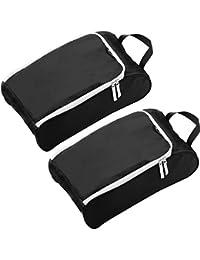 Alpamayo® bolsas para zapatos, bolsa impermeable ideal para almacenar zapatos en la maleta, mochila o bolsa de viajes, en color negro