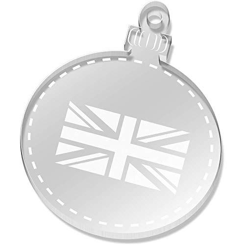 Azeeda 2 x 52mm 'Union Jack Flagge' Klare Weihnachtsdekoration (CB00019671)