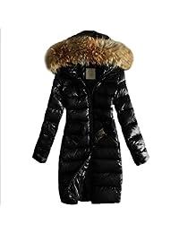 HANMAX Damen Winterjacke Wintermantel Lange Daunenjacke Jacke Outwear  Frauen Winter Warm Daunenmantel Warm Long Coat Pelzkragen 0a273f42dc