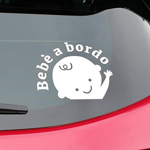 Bonfinity adesivo bebè bimbo a bordo per auto | sticker baby on board esterno | segnale impermeabile bambino decalcomania